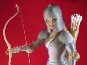 迷你反曲弓模型 3D模型