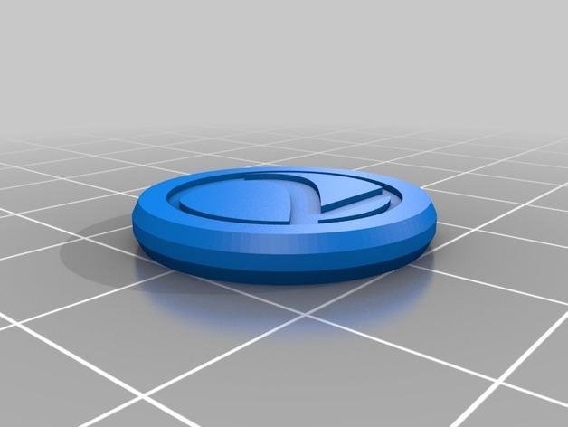 3D打印的双色钱币筹码模型 3D模型  图4