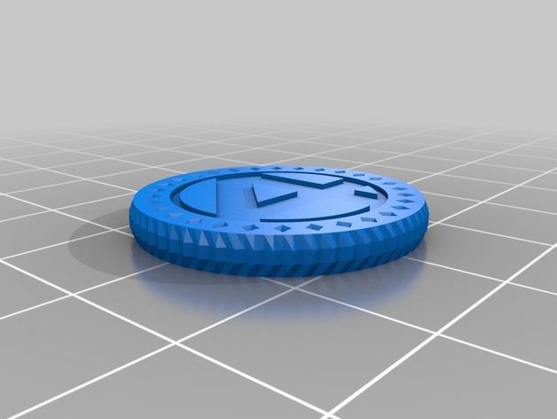 3D打印的双色钱币筹码模型 3D模型  图2