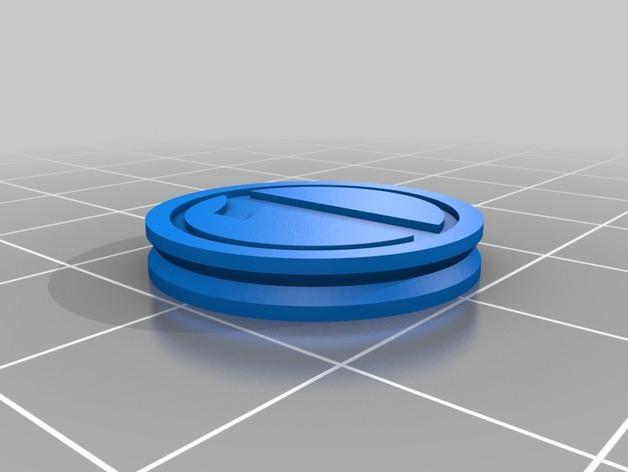 3D打印的双色钱币筹码模型 3D模型  图3