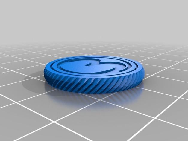 3D打印的双色钱币筹码模型 3D模型  图5