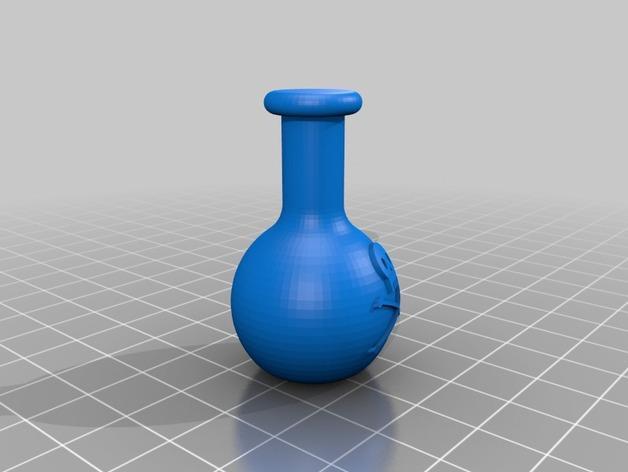 迷你毒药瓶模型 3D模型  图2