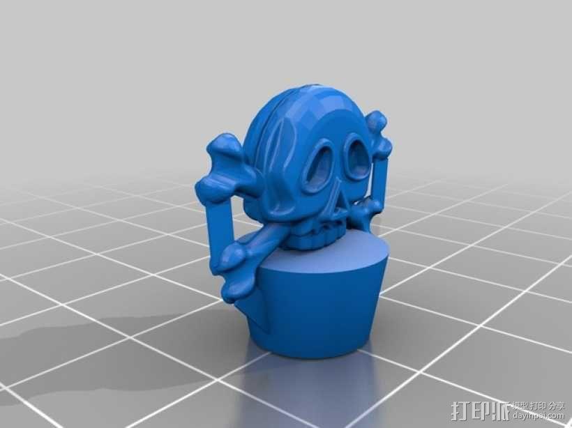 迷你毒药瓶模型 3D模型  图3