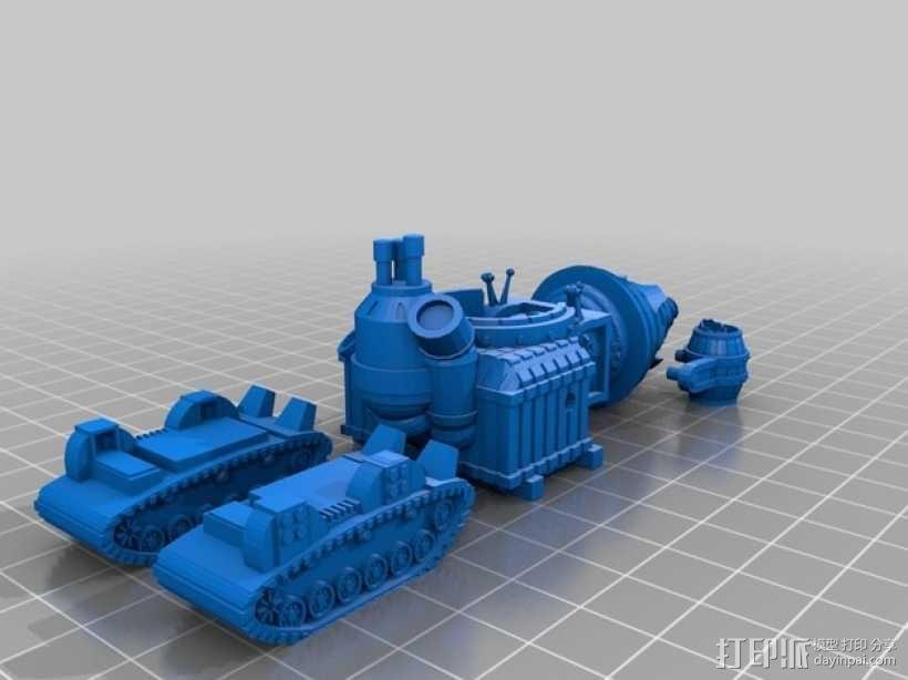 小矮人隧道掘进机模型 3D模型  图2