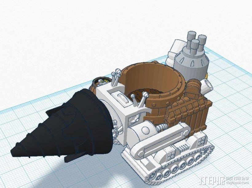 小矮人隧道掘进机模型 3D模型  图1