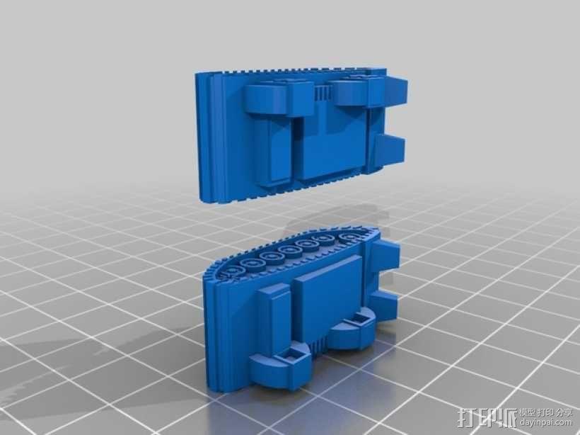 小矮人隧道掘进机模型 3D模型  图3
