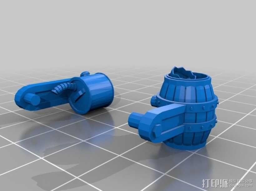小矮人隧道掘进机模型 3D模型  图5