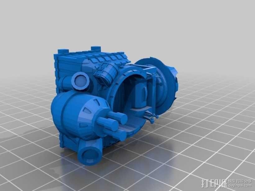 小矮人隧道掘进机模型 3D模型  图7