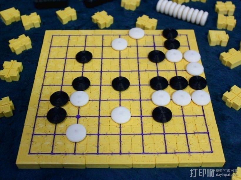模块化磁力棋盘模型 3D模型  图1