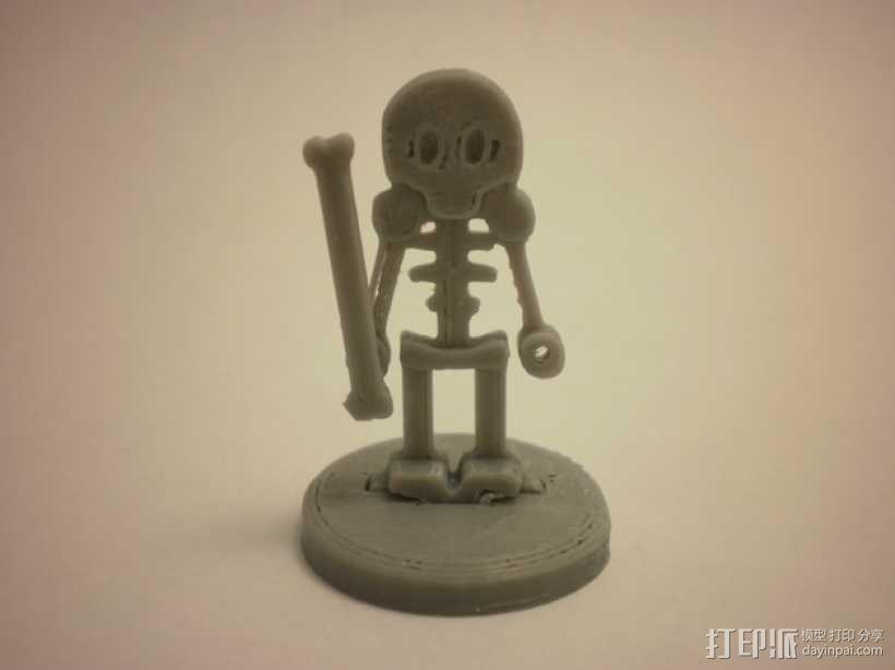 FlatMinis:骨架 3D模型  图1