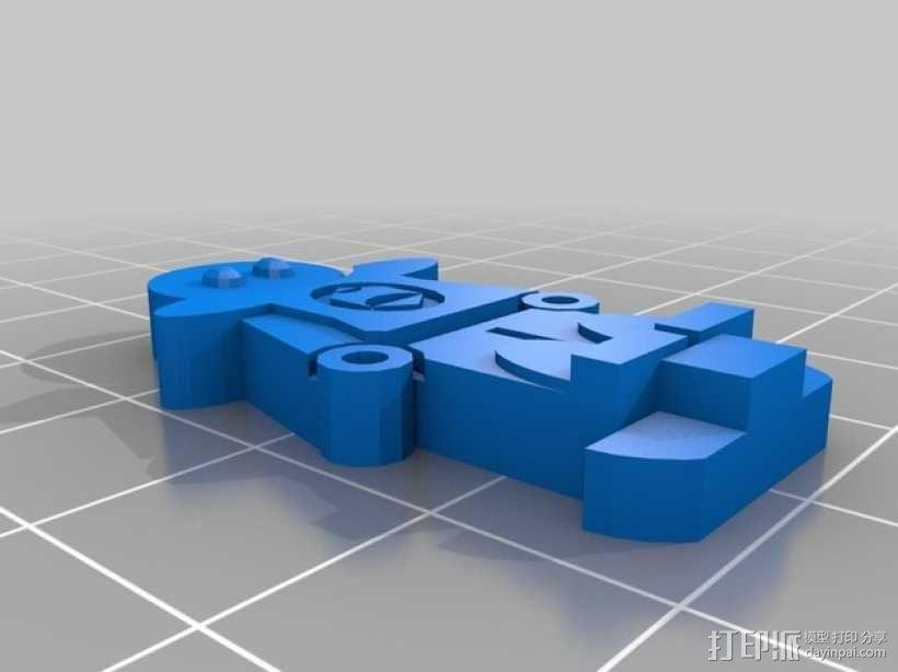 FlatMinis:城镇守卫队长 3D模型  图5