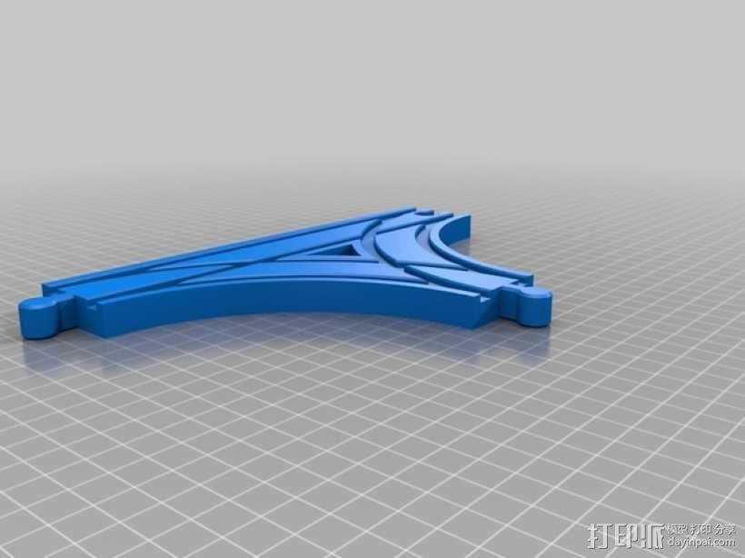 参数化T字形火车车轨模型 3D模型  图5