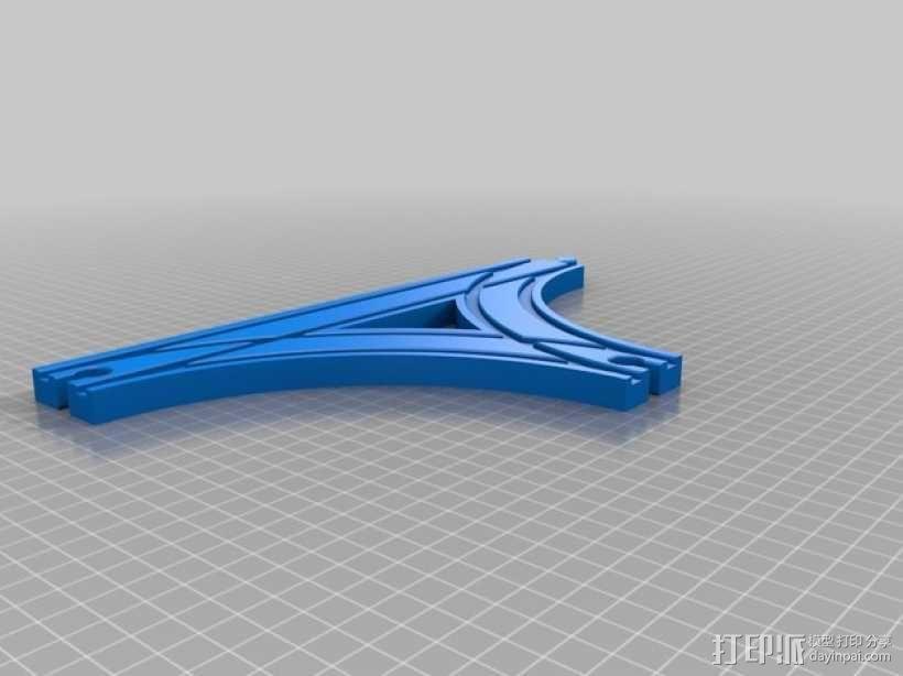 参数化T字形火车车轨模型 3D模型  图10