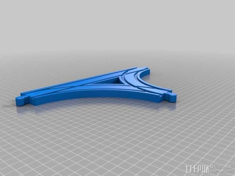 参数化T字形火车车轨模型 3D模型  图12