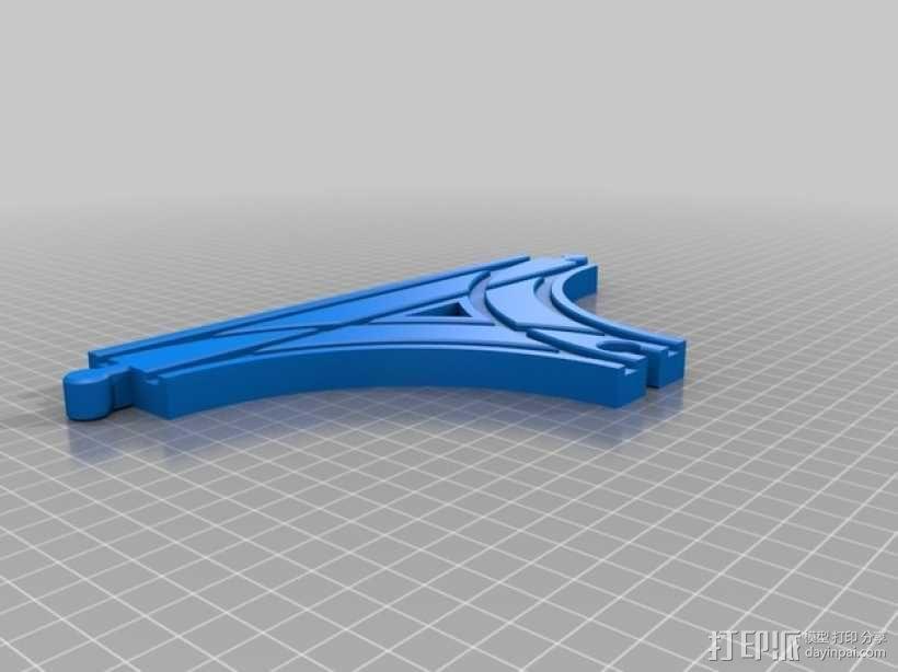 参数化T字形火车车轨模型 3D模型  图16