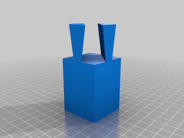 鸠尾榫立方体模型 3D模型  图2