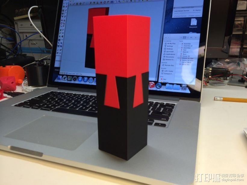 鸠尾榫立方体模型 3D模型  图1