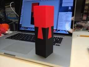 鸠尾榫立方体模型 3D模型