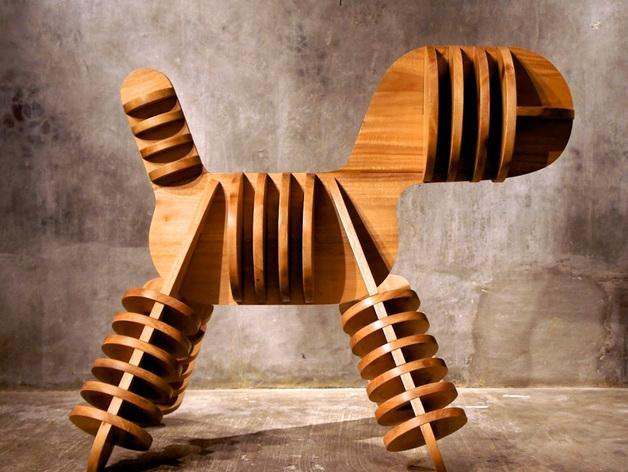 迷你小狗椅模型 3D模型  图4