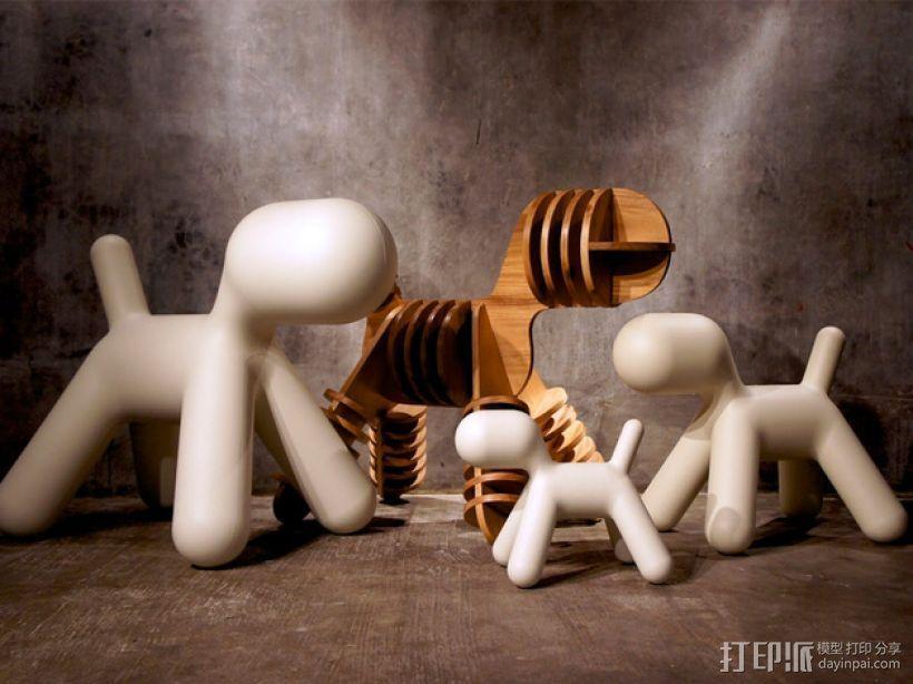 迷你小狗椅模型 3D模型  图6
