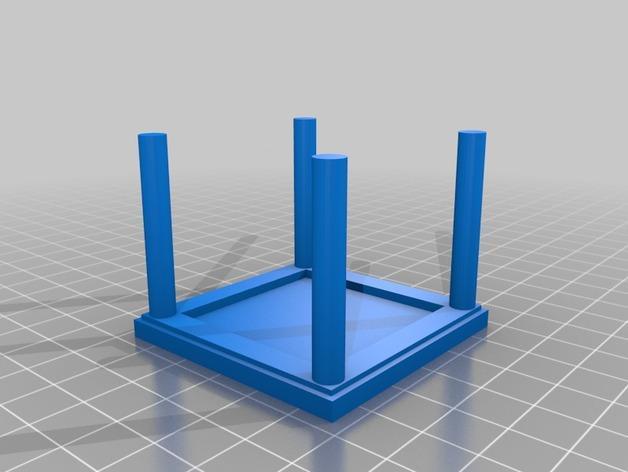 森林家族玩偶桌椅模型 3D模型  图3