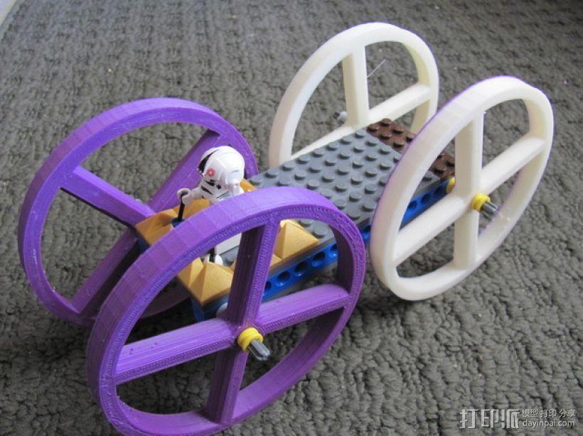 乐高玩偶车轮模型 3D模型  图1