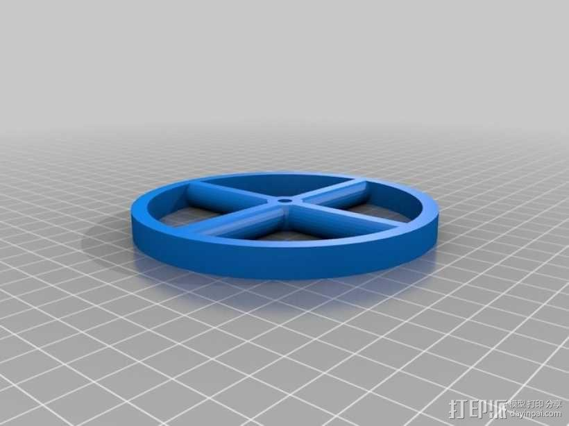 乐高玩偶车轮模型 3D模型  图2