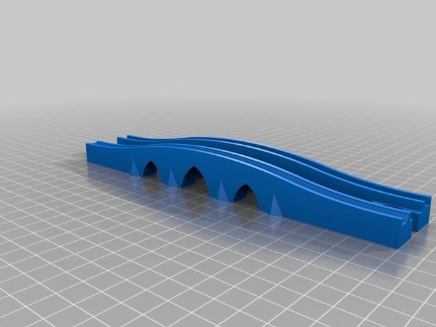 玩具火车桥模型 3D模型  图1