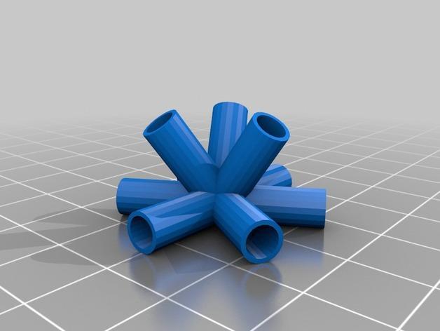 四角藻形风筝套件 3D模型  图3