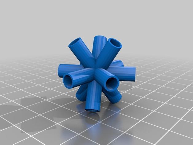 四角藻形风筝套件 3D模型  图2