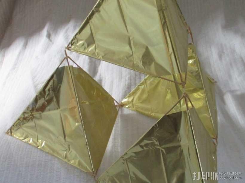 四角藻形风筝套件 3D模型  图1