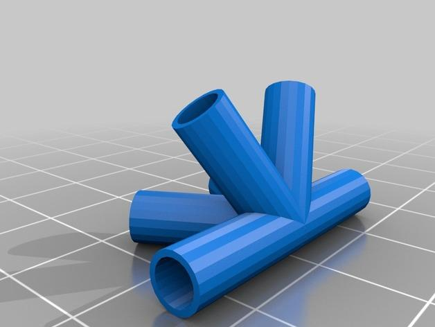 四角藻形风筝套件 3D模型  图5