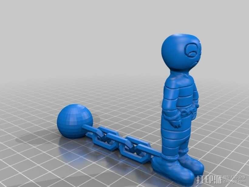 迷你囚犯模型 3D模型  图3