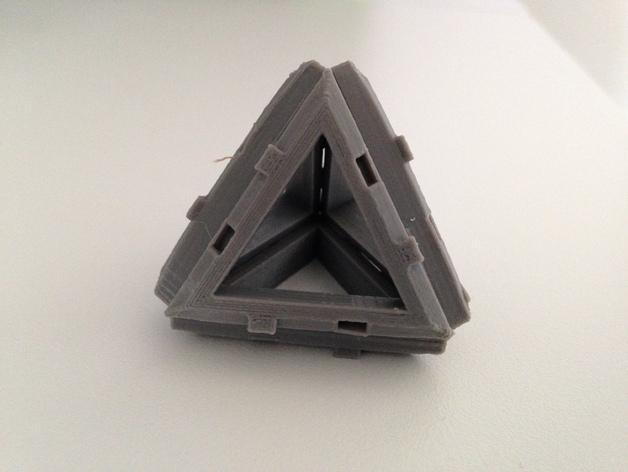 四面体积木模型 3D模型  图3