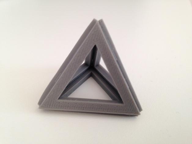 四面体积木模型 3D模型  图2