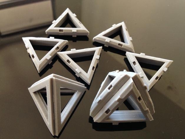 四面体积木模型 3D模型  图1