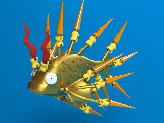 Ogo迷你金鱼模型 3D模型  图1