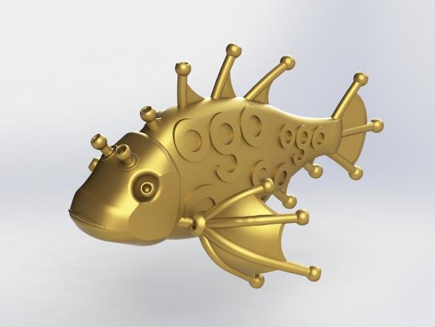 Ogo迷你金鱼模型 3D模型  图2