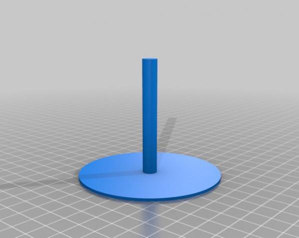 圆形磁铁标杆模型 3D模型  图1