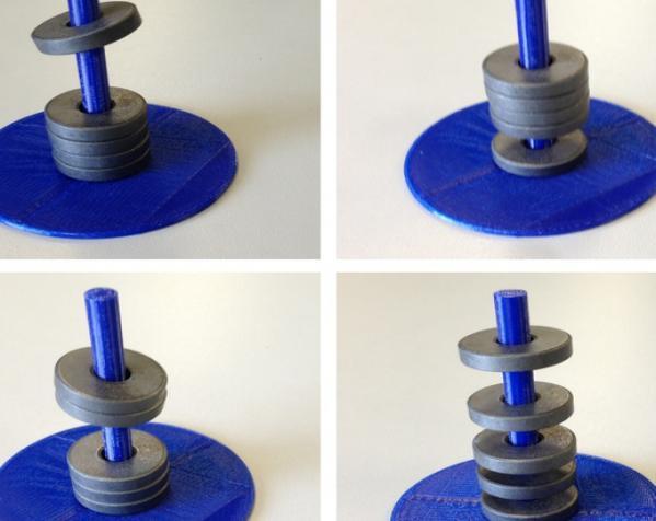 圆形磁铁标杆模型 3D模型  图2