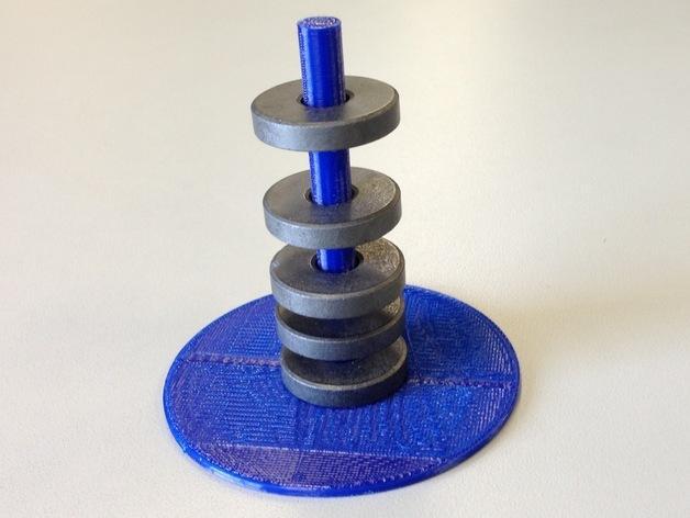 圆形磁铁标杆模型 3D模型  图3