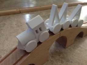迷你玩具火车模型 3D模型