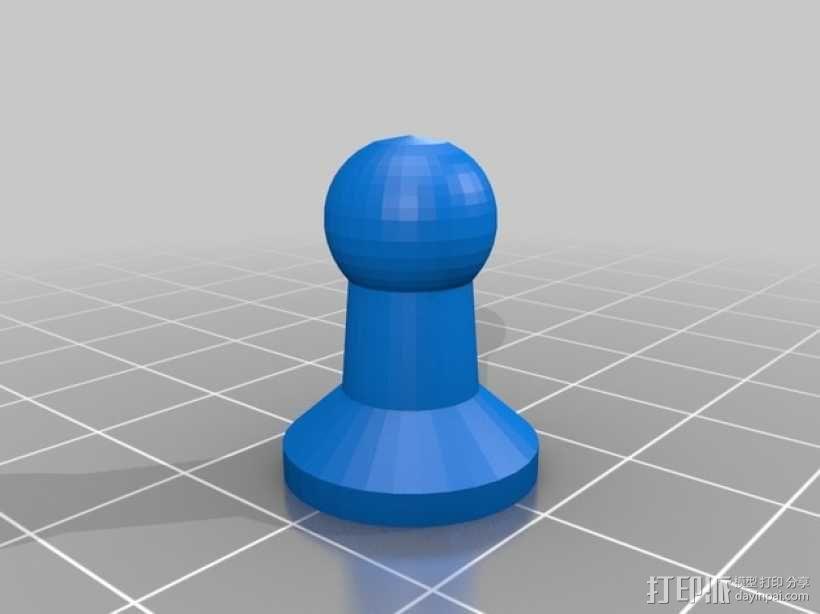 黑暗火焰象棋棋子 3D模型  图2