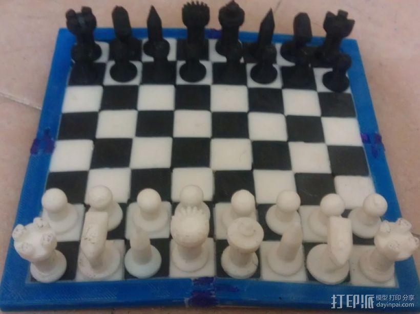 黑暗火焰象棋棋子 3D模型  图1