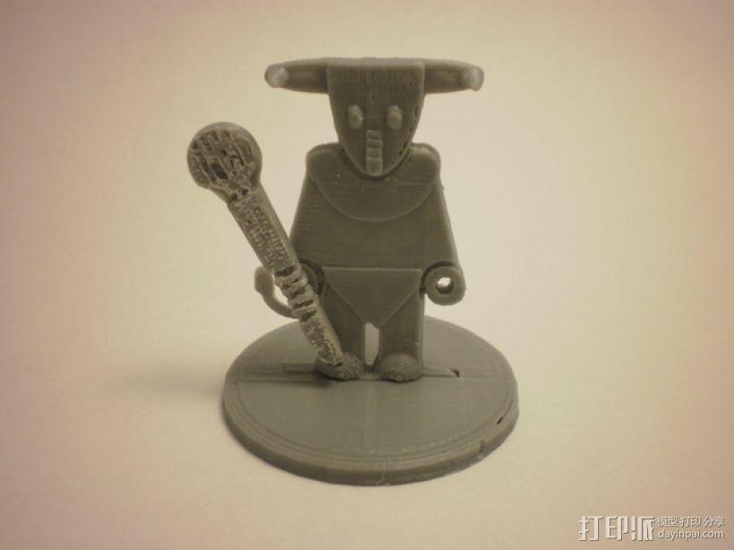 FlatMinis:弥诺陶洛斯牛头人 3D模型  图1