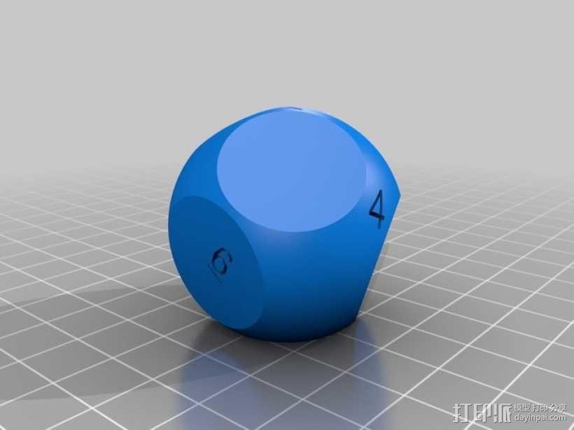 N面骰子模型 3D模型  图3