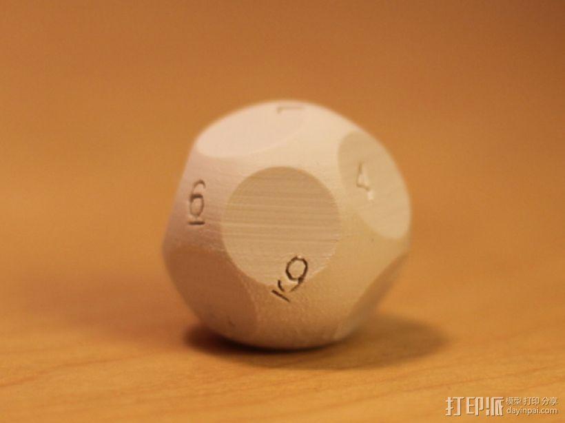 N面骰子模型 3D模型  图1