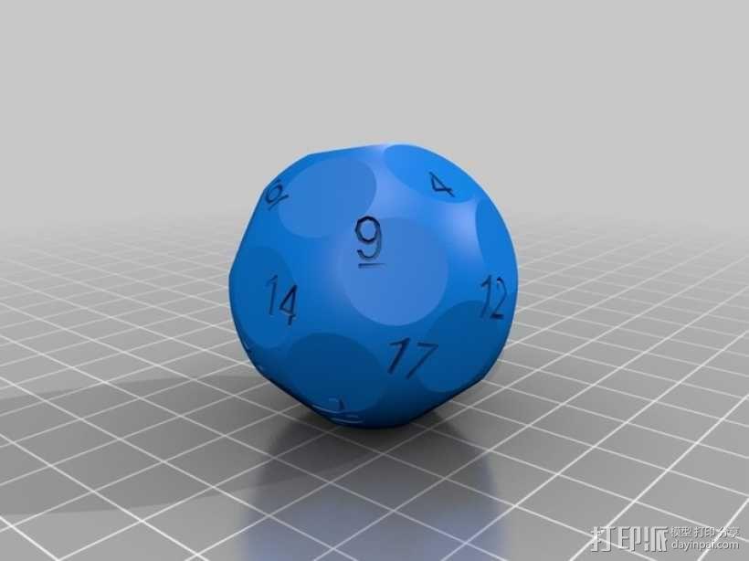 N面骰子模型 3D模型  图5