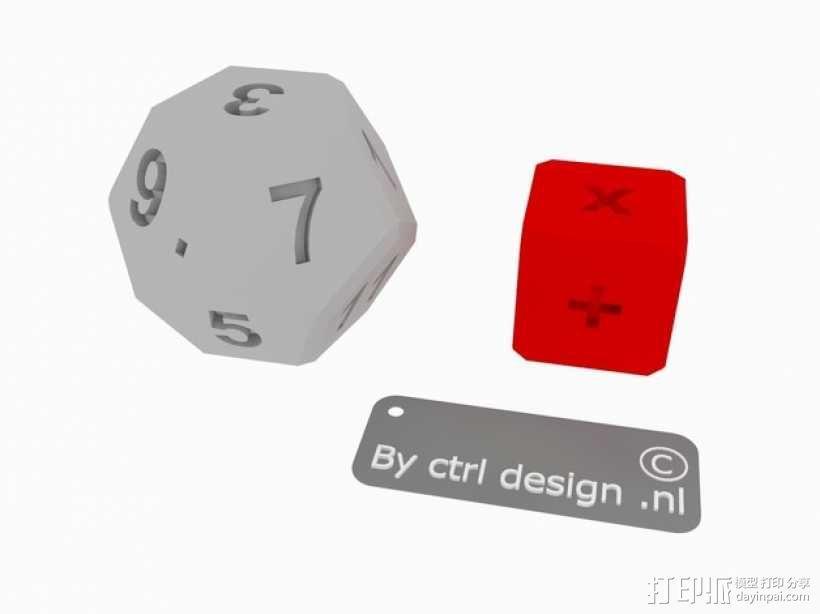算数练习骰子模型 3D模型  图1