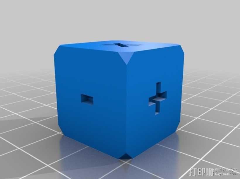 算数练习骰子模型 3D模型  图3